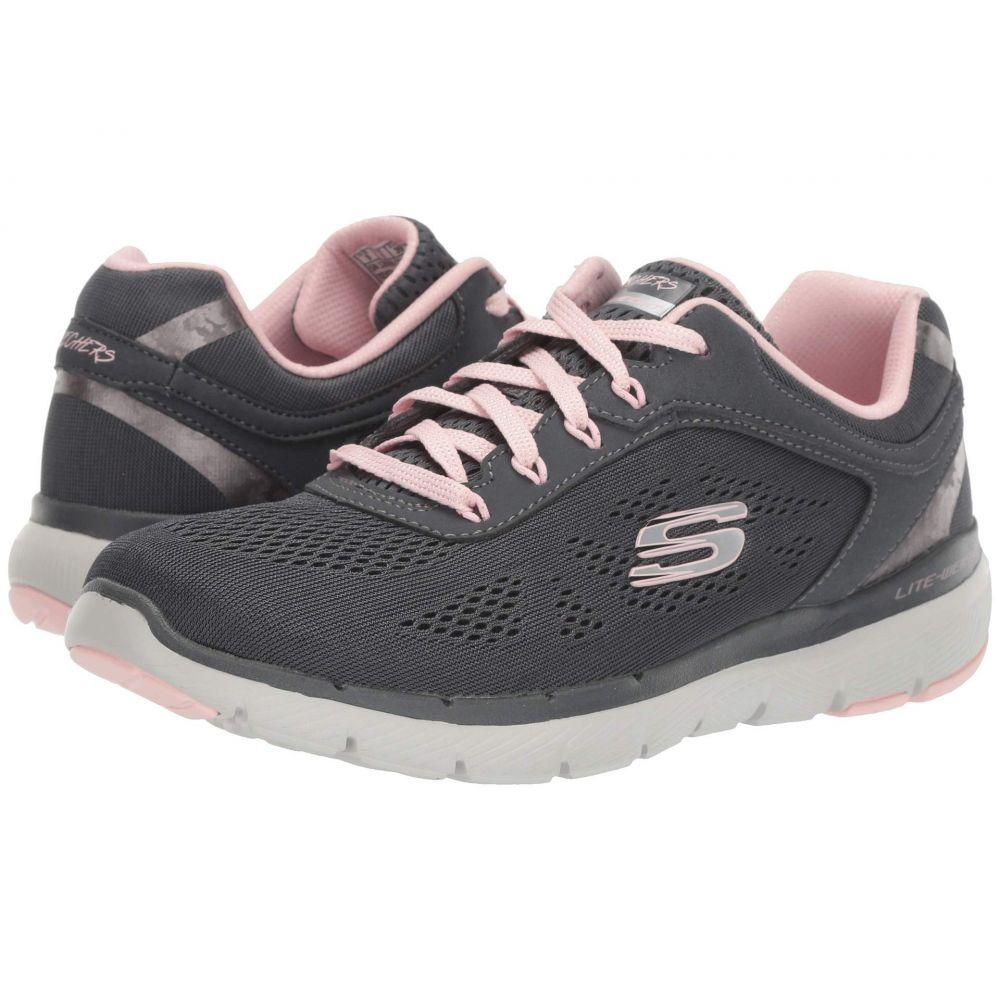 スケッチャーズ SKECHERS レディース シューズ・靴 スニーカー【Flex Appeal 3.0】Charcoal/Pink