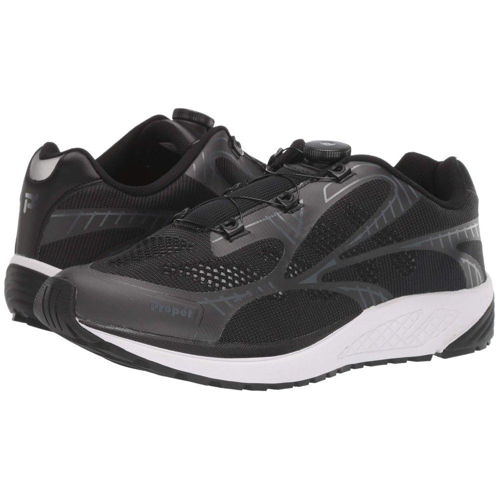 プロペット Propet メンズ シューズ・靴 スニーカー【One Reel Fit】Black/Grey