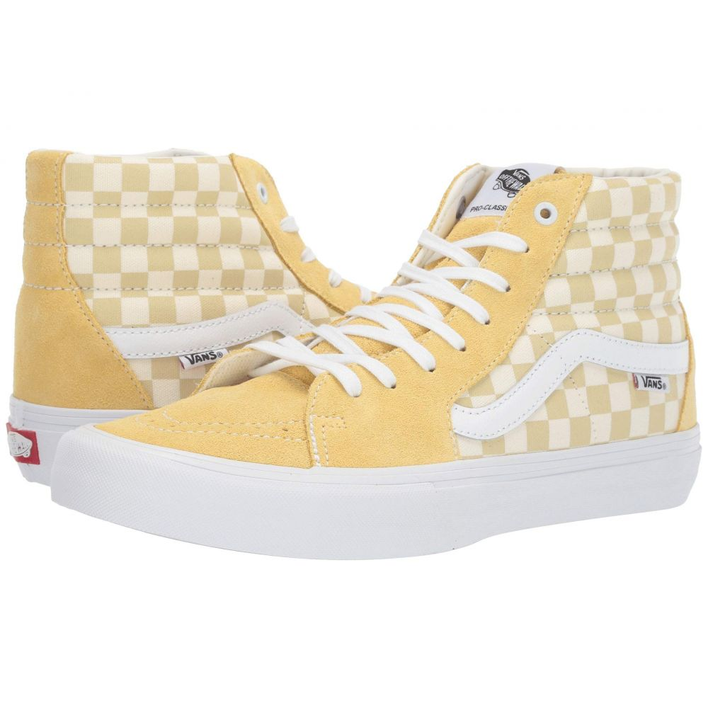 ヴァンズ Vans メンズ シューズ・靴 スニーカー【SK8-Hi(TM) Pro】Checkerboard) Pale Banana/Marshmallow