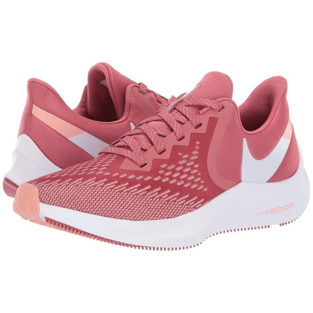 ナイキ Nike レディース ランニング・ウォーキング シューズ・靴【Zoom Winflo 6】Light Redwood/White/Pink Quartz