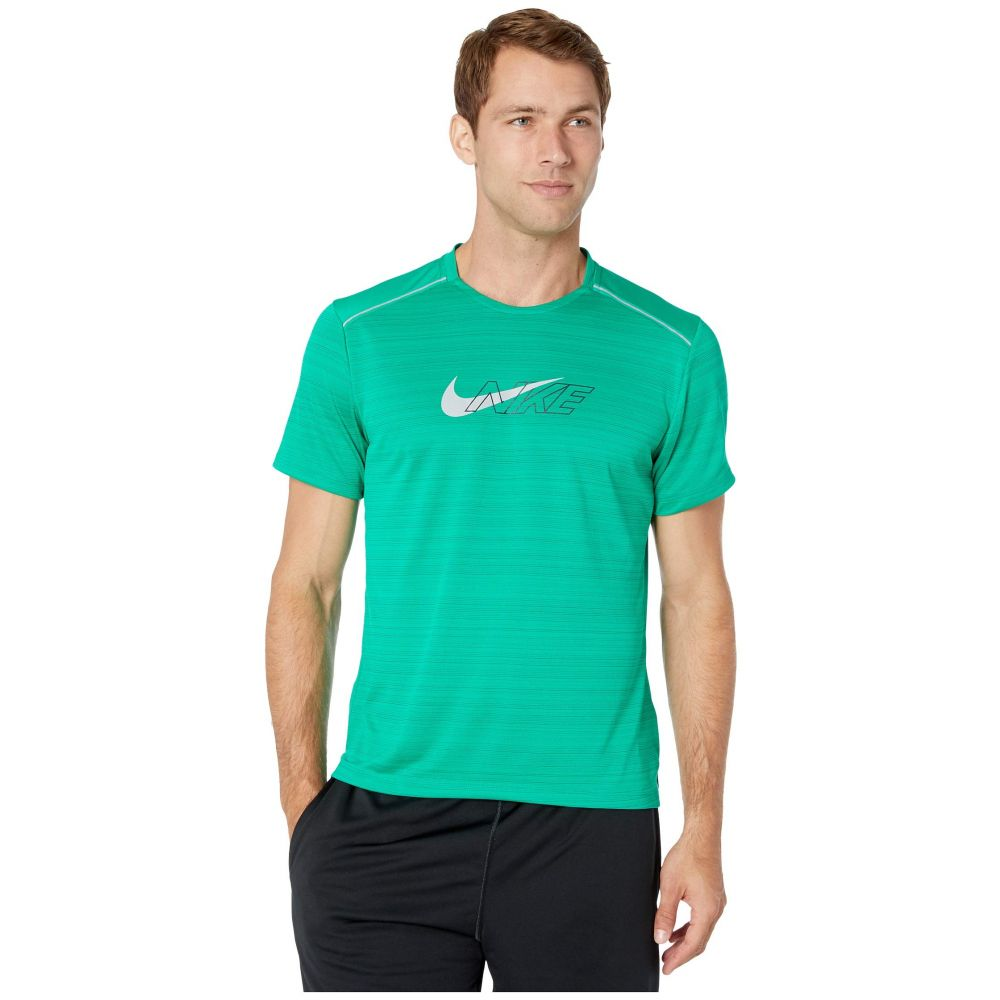 ナイキ Nike メンズ トップス【Dri-FIT(TM) Miler Short Sleeve Flash NV】Lucid Green/Reflective Silver