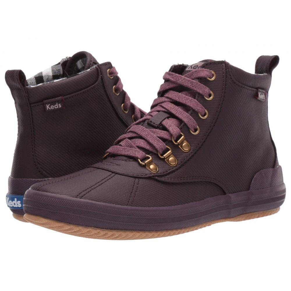 ケッズ Keds レディース シューズ・靴 ブーツ【Scout Boot II Matte Twill WX】Burgundy Splash Twill