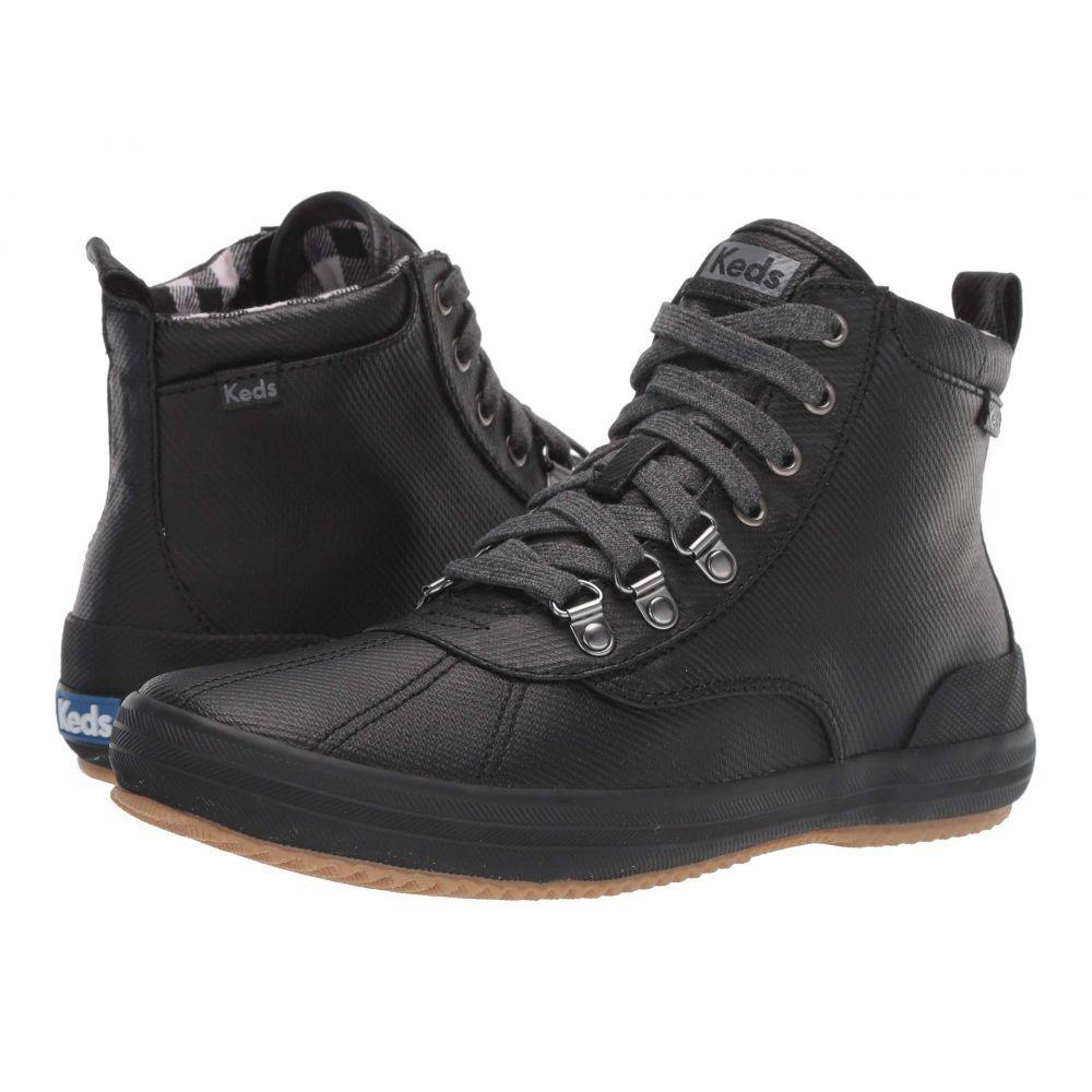 ケッズ Keds レディース シューズ・靴 ブーツ【Scout Boot II Matte Twill WX】Black Splash Twill