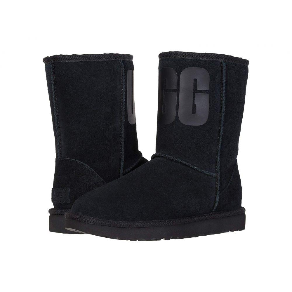 アグ UGG レディース シューズ・靴 ブーツ【Classic Short Rubber Logo】Black