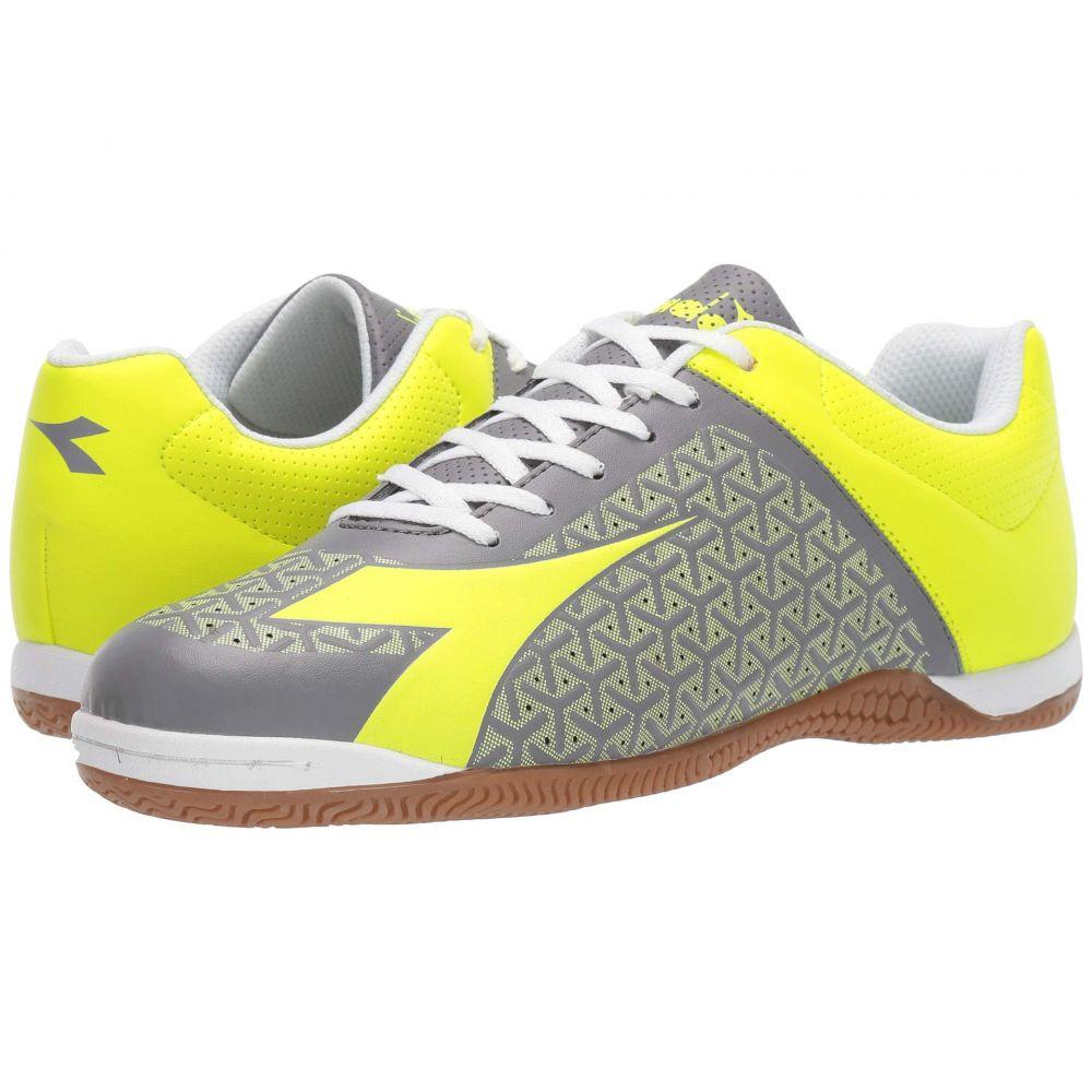 ディアドラ Diadora メンズ サッカー シューズ・靴【Bolinha ID】Fluo Yellow/Frost Gray