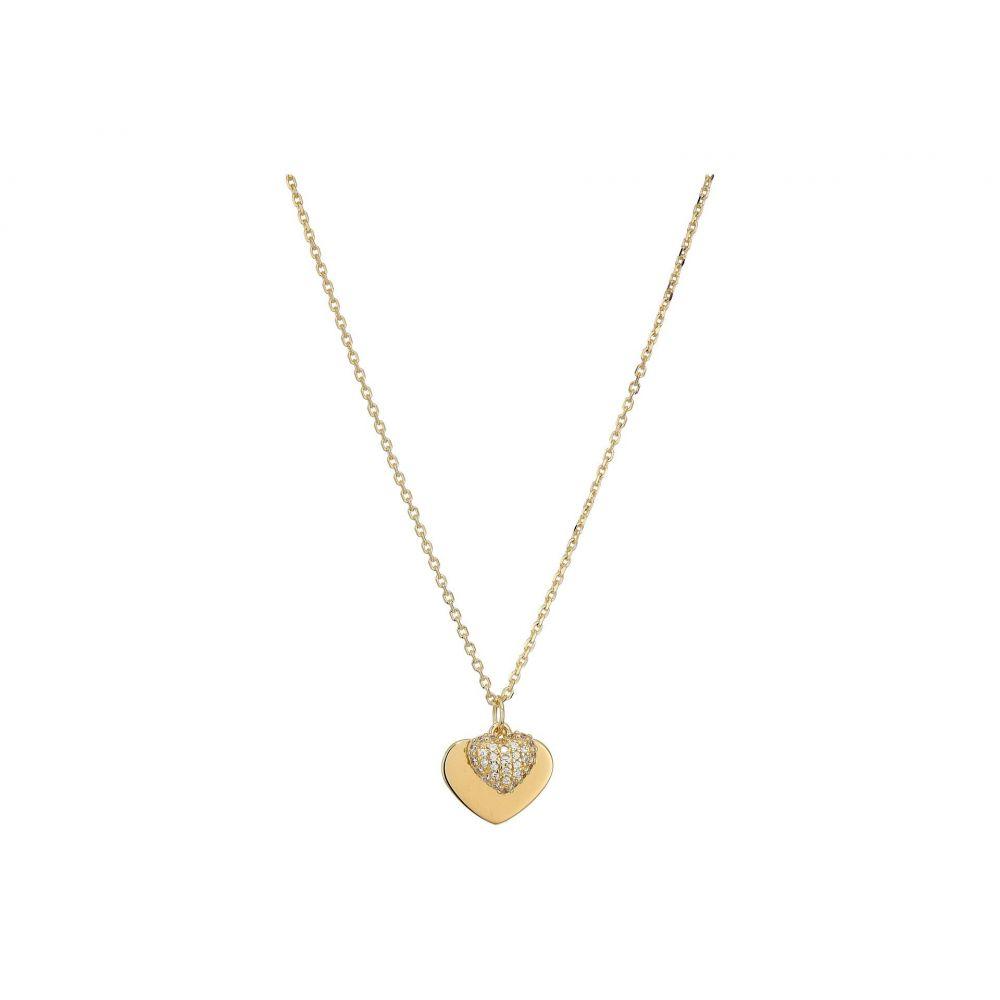 マイケル コース Michael Kors レディース ジュエリー・アクセサリー ネックレス【Precious Metal-Plated Sterling Silver Pave Heart Necklace】Gold