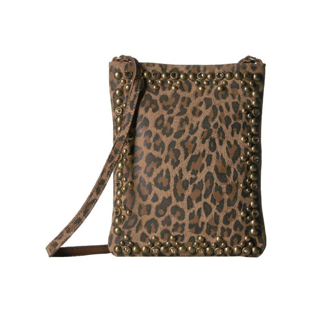 レザロック Leatherock レディース バッグ ショルダーバッグ【Yvette Cell Pouch】Leopard Tan