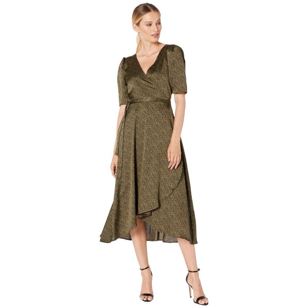 ボボウ B Collection by Bobeau レディース ワンピース・ドレス ワンピース【Lumi Wrap Dress】Ditsy Leopard Olive