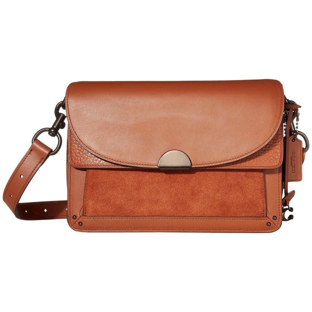 コーチ COACH レディース バッグ ショルダーバッグ【Mixed Leather Dreamer Shoulder Bag】Saddle/Pewter