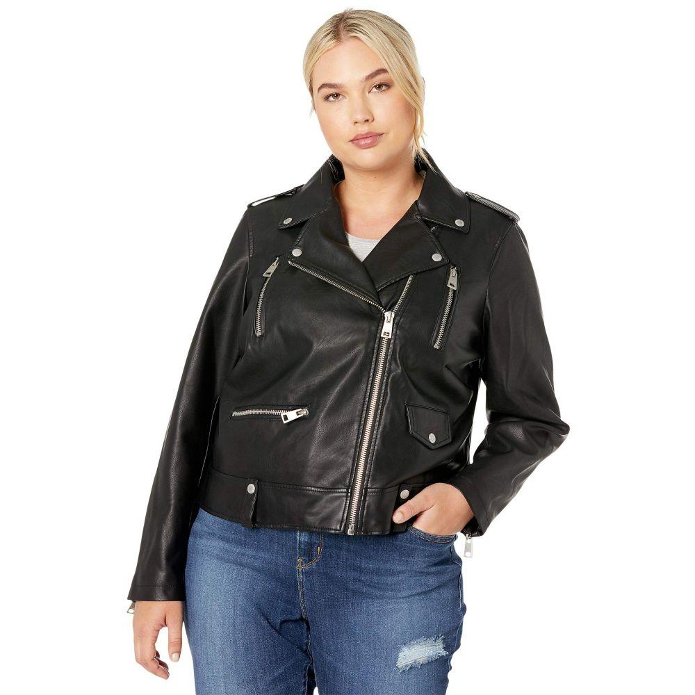 リーバイス Levi's レディース アウター レザージャケット【Plus Size Faux Leather Moto Jacket】Black