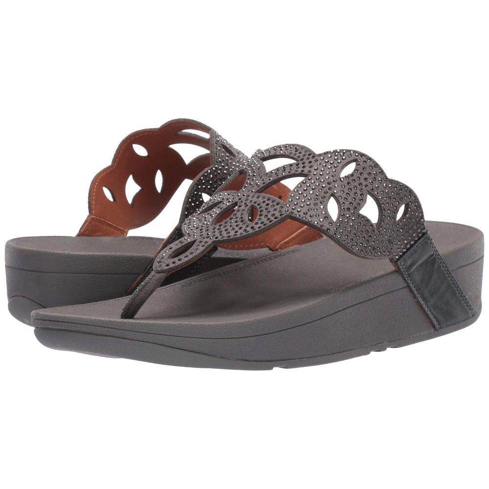 フィットフロップ FitFlop レディース シューズ・靴 ビーチサンダル【Elora Crystal Toe Thong Sandal】Pewter