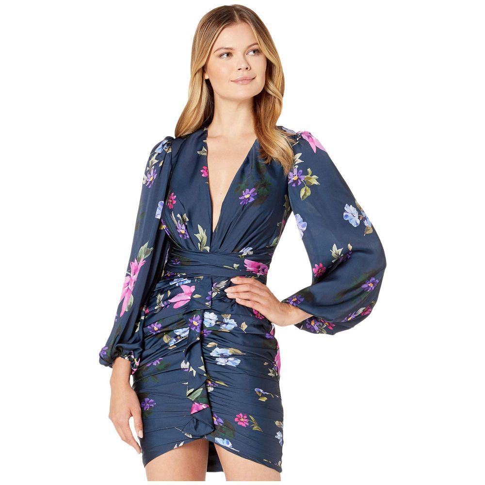 ジル スチュアート JILL JILL STUART レディース ワンピース・ドレス ワンピース【Faux Wrap Mini Dress】Blue Multi