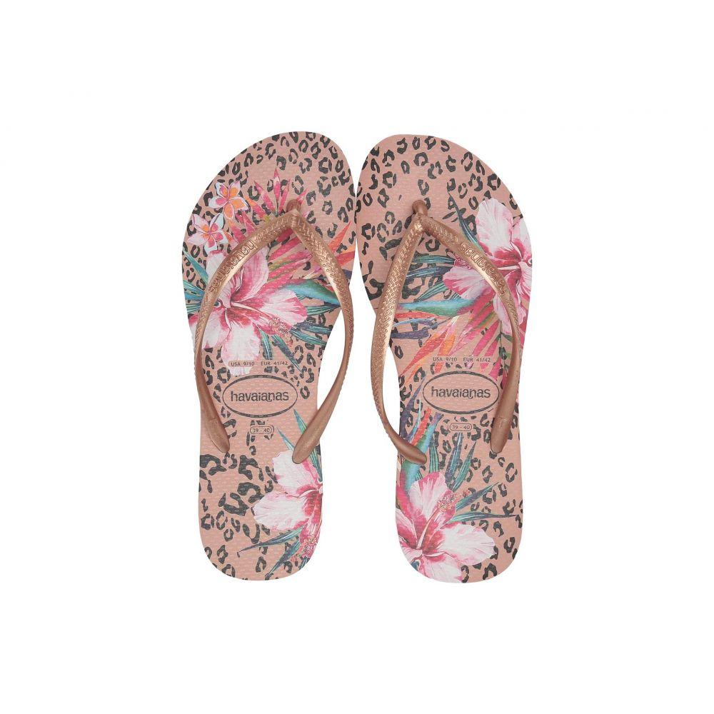 ハワイアナス Havaianas レディース シューズ・靴 ビーチサンダル【Slim Animal Floral】Crocus Rose