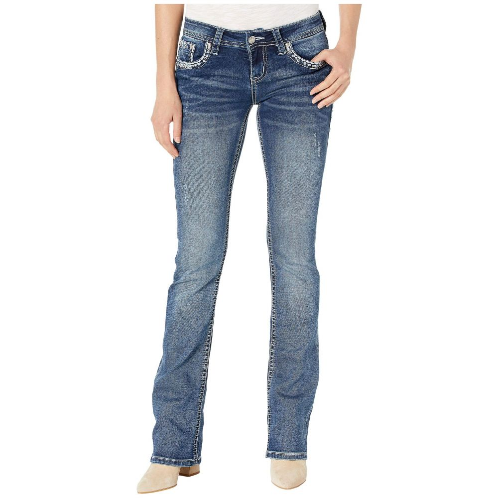 グレース イン LA Grace in LA レディース ボトムス・パンツ ジーンズ・デニム【Knits Stitch Mid-Rise Jeans in Medium Blue】Medium Blue