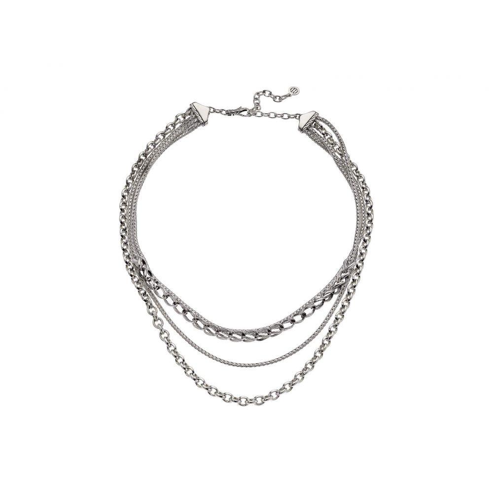 ジョン ハーディー Hardy John ジョン Hardy レディース Chain ジュエリー・アクセサリー ネックレス【Asli Classic Chain Link Multi-Row Necklace】Silver, 【数量限定】:463e8399 --- officewill.xsrv.jp
