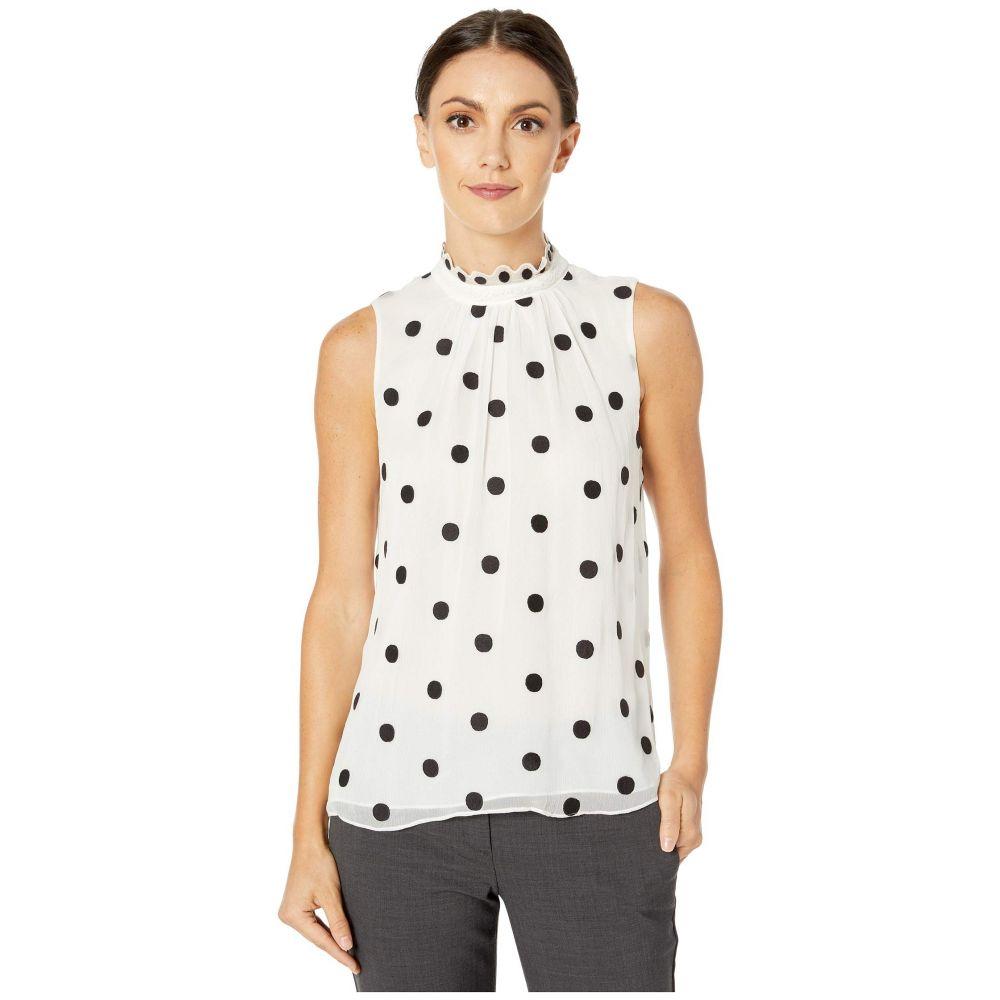 レベッカ テイラー Rebecca Taylor レディース トップス ノースリーブ【Sleeveless Dot Embroidered Top】Ivory Combo