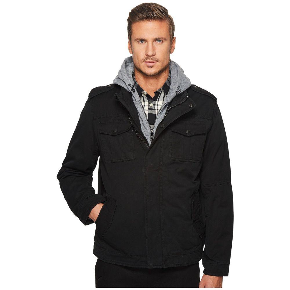 リーバイス Levi's メンズ アウター【Two-Pocket Hoodie with Zip Out Jersey Bib/Hood and Sherpa Lining】Black