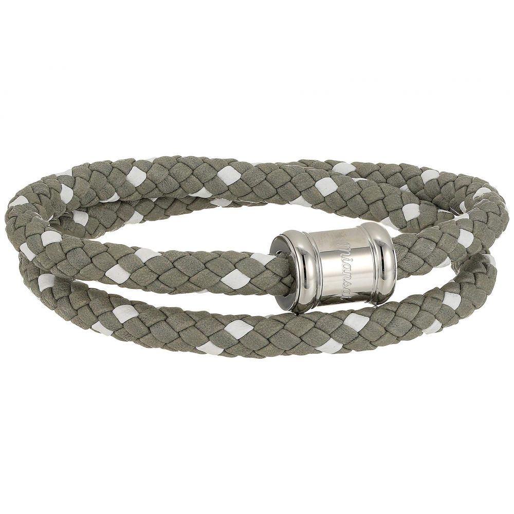 ミアンサイ Miansai メンズ ジュエリー・アクセサリー ブレスレット【Two-Tone Leather Casing Bracelet】Gray/White