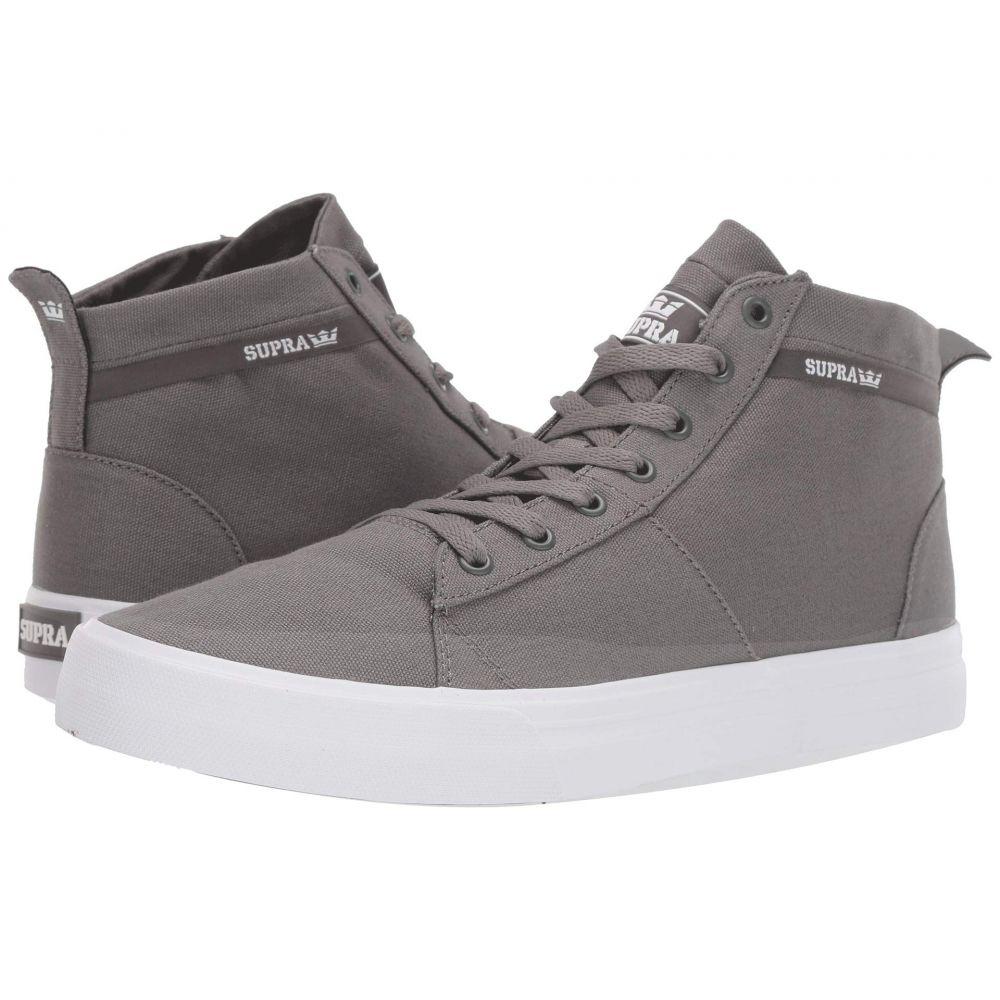 スープラ Supra メンズ シューズ・靴 スニーカー【Stacks Mid】Grey/White