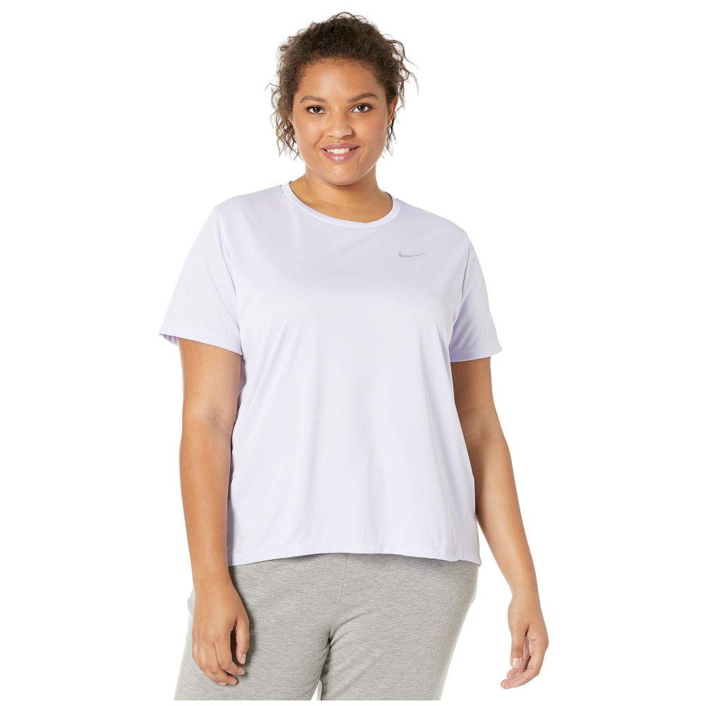 ナイキ Nike レディース Sleeve トップス Silver【Dry Miler Top Top Short Sleeve (Size 1X-3X)】Lavender Mist/Reflective Silver, Smiling Angel Fashion Shop:db0f46de --- officewill.xsrv.jp