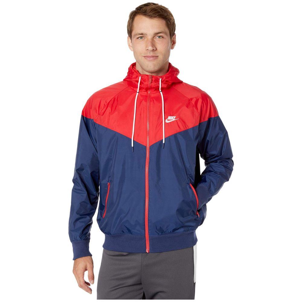 ナイキ Nike メンズ アウター ジャケット【NSW Windrunner Hoodie Jacket】Midnight Navy/University Red/White