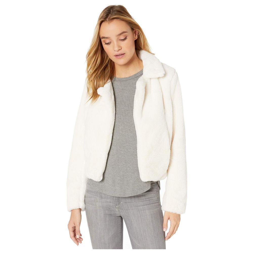 ブランクニューヨーク Blank NYC レディース アウター ジャケット【Faux Fur Crop Jacket in Baby Spice】Cream