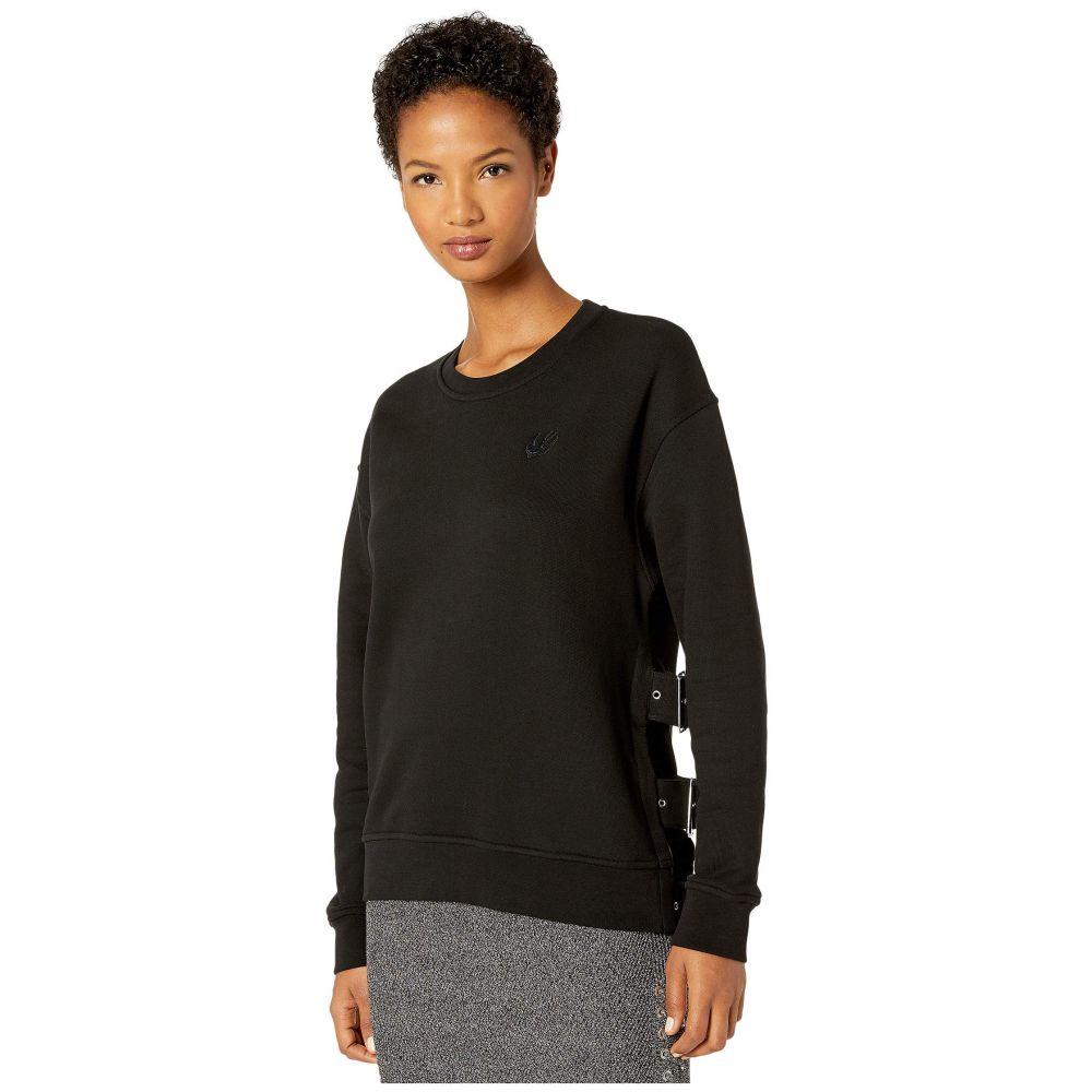 マックイーン McQ レディース ニット・セーター トップス【Belted Slouchy Sweater】Darkest Black