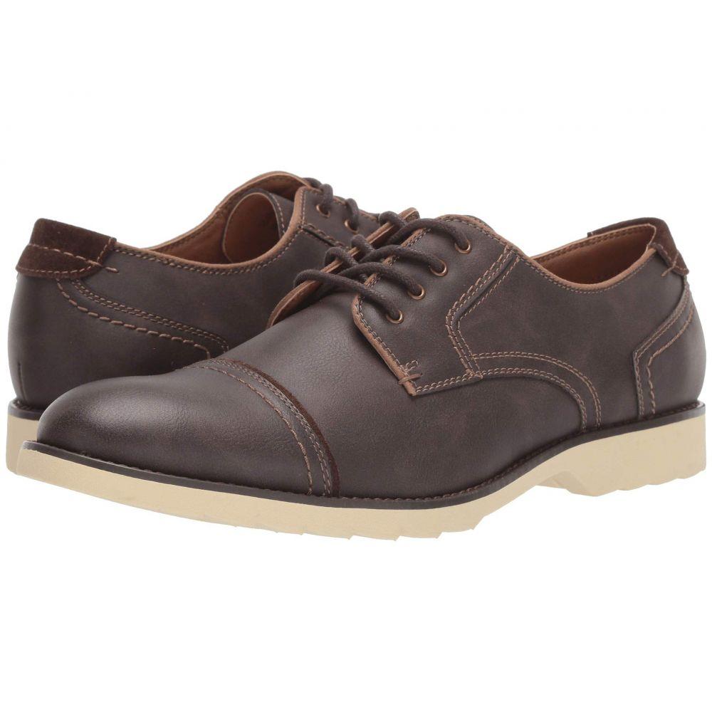 ドッカーズ Dockers メンズ 革靴・ビジネスシューズ シューズ・靴【Murray Cap Toe Oxford】Dark Brown Distressed Synthetic