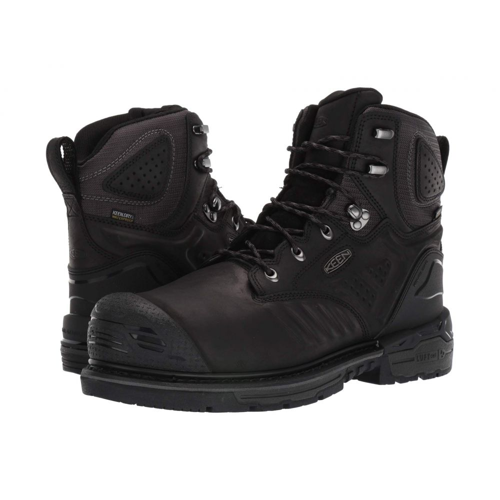 キーン Keen Utility メンズ ブーツ シューズ・靴【Philadelphia 6' Waterproof Carbon-Fiber Toe】Black/Steel Grey