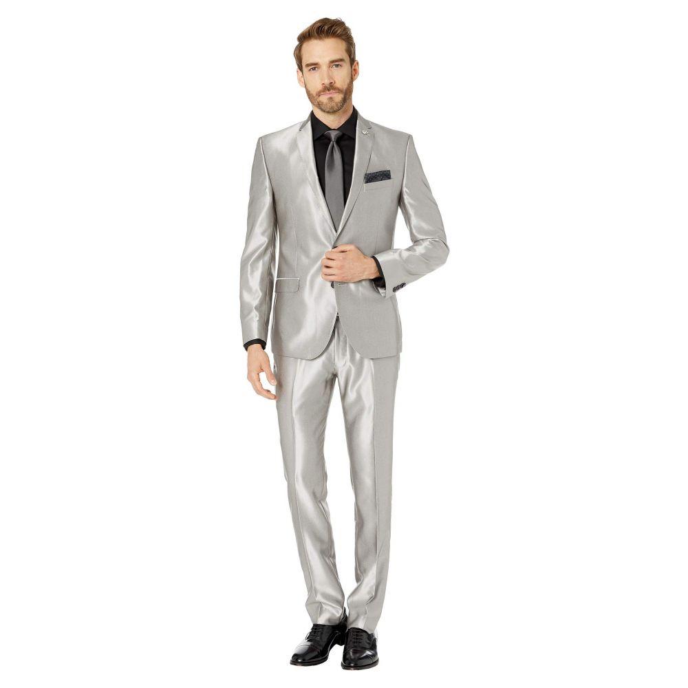 ニック グラハム Nick Graham メンズ スラックス ボトムス・パンツ【Silver 32' Finished Bottoms Hem Suit】Silver