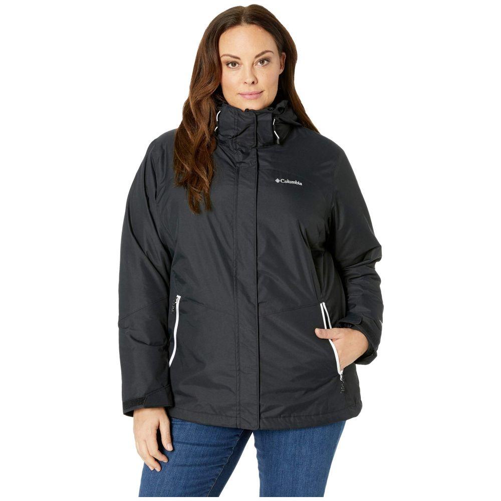 コロンビア Columbia レディース スキー・スノーボード 大きいサイズ ジャケット アウター【Plus Size Bugaboo(TM) II Fleece Interchange Jacket】Black/White