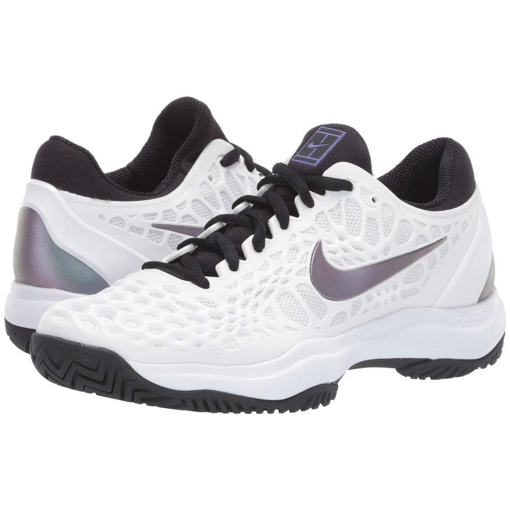ナイキ Nike レディース テニス シューズ・靴【Zoom Cage 3 HC】White/Bright Violet/Psychic Purple