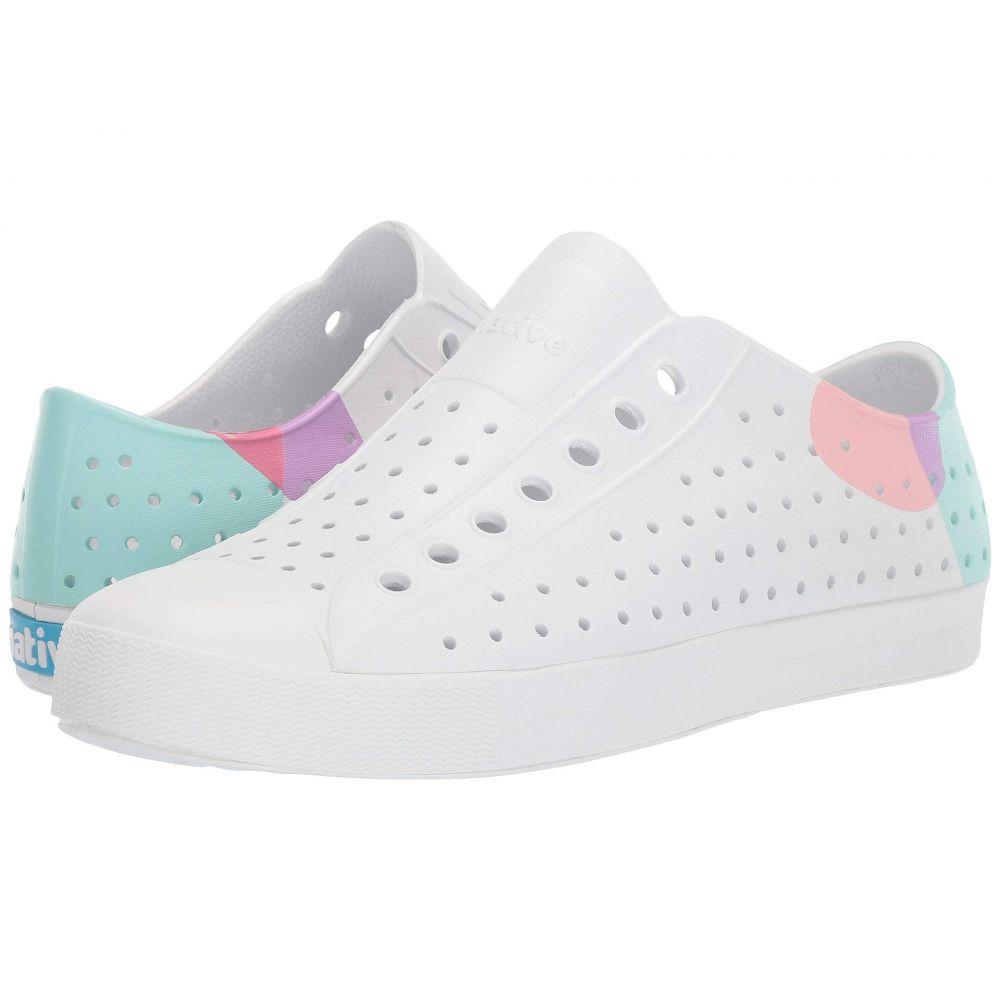 ネイティブ シューズ Native Shoes レディース スニーカー シューズ・靴【Jefferson Block】Shell White/Shell White/Dot Block
