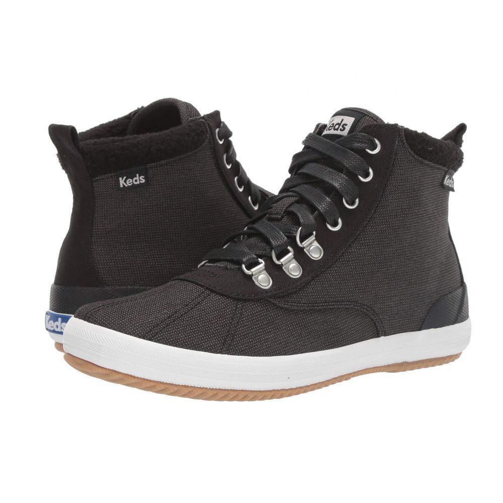 ケッズ Keds レディース ブーツ シューズ・靴【Scout Boot II Slub Nylon WX】Black/Gray Slub Nylon