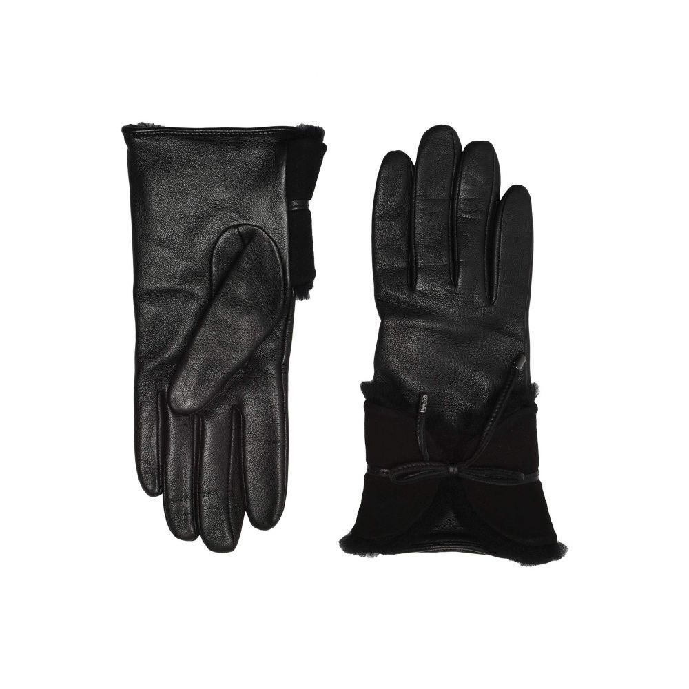 アグ UGG レディース 手袋・グローブ 【Combo Sheepskin Trim Gloves】Black