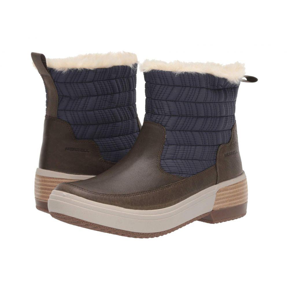 メレル Merrell レディース スキー・スノーボード シューズ・靴【Haven Bluff Polar Waterproof】Peacoat