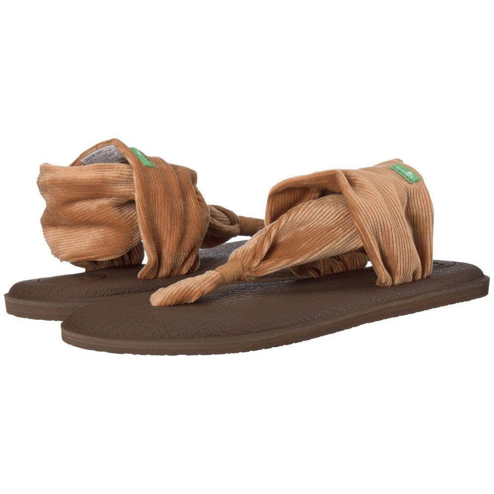 サヌーク Sanuk レディース ヨガ・ピラティス シューズ・靴【Yoga Sling 2 Corduroy】Roasted Pecan