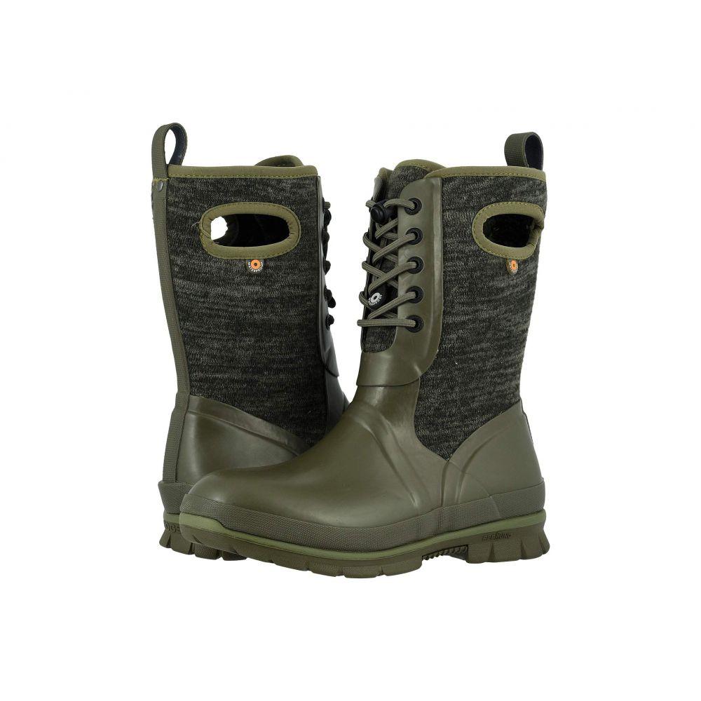 ボグス Bogs レディース スキー・スノーボード シューズ・靴【Crandall Lace Knit】Olive Multi