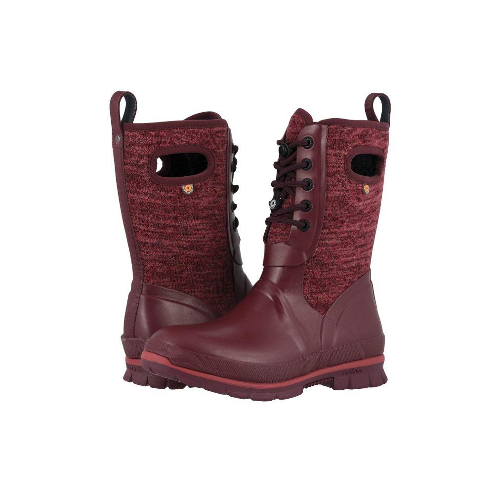 ボグス Bogs レディース スキー・スノーボード シューズ・靴【Crandall Lace Knit】Burgundy Multi