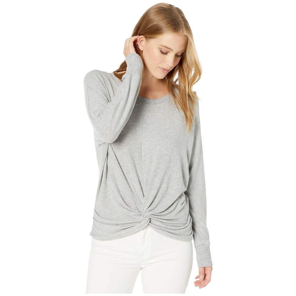 マイケルスターズ Michael Stars レディース スウェット・トレーナー トップス【Madison Brushed Jersey Alexa Dolman Sleeve Top with Twist】Heather Grey