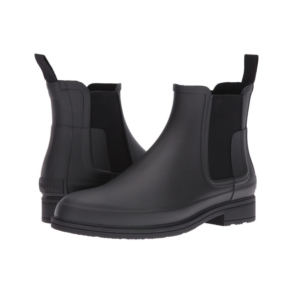 ハンター Hunter メンズ レインシューズ・長靴 チェルシーブーツ シューズ・靴【Original Refined Dark Sole Chelsea Boots】Black