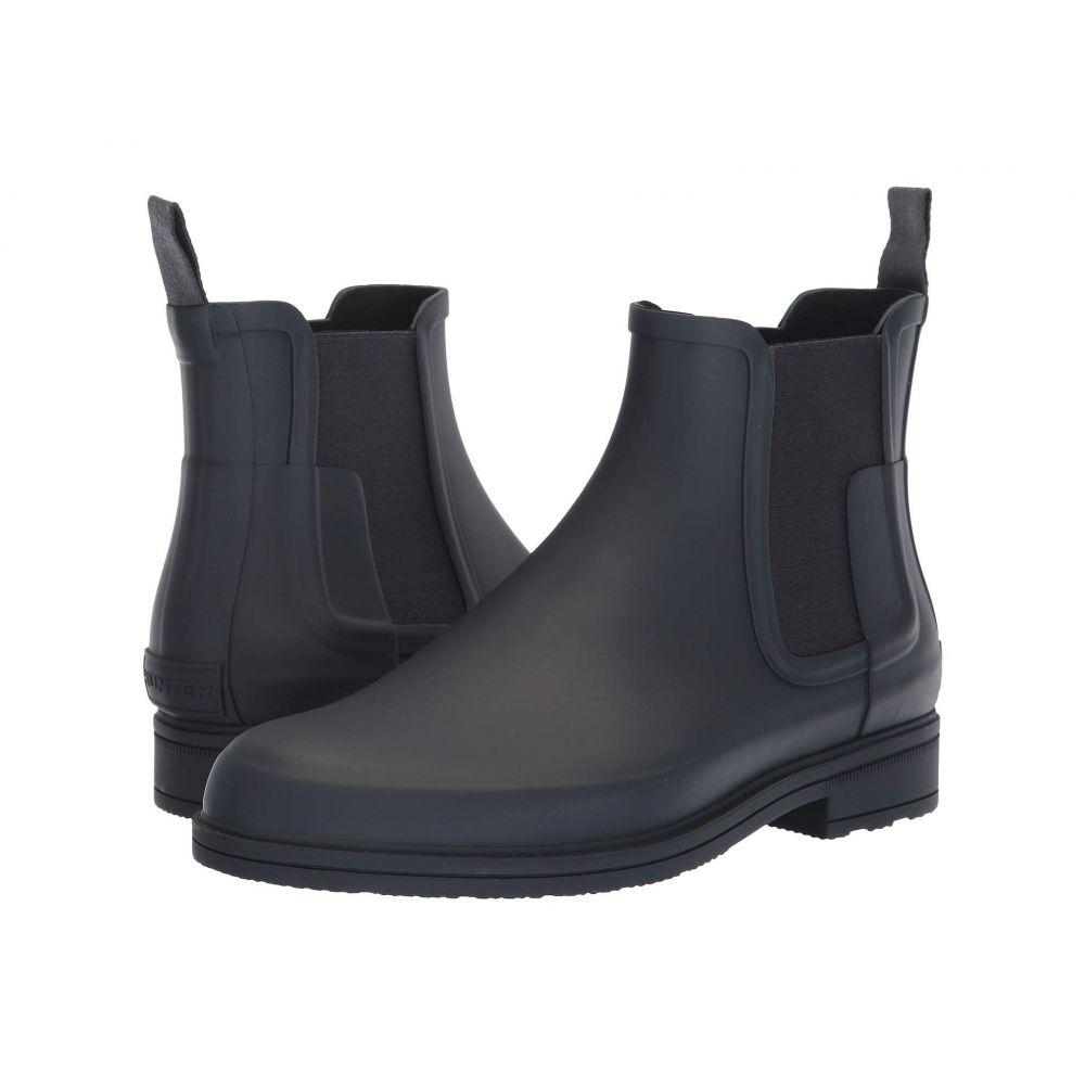 ハンター Hunter メンズ レインシューズ・長靴 チェルシーブーツ シューズ・靴【Original Refined Dark Sole Chelsea Boots】Navy