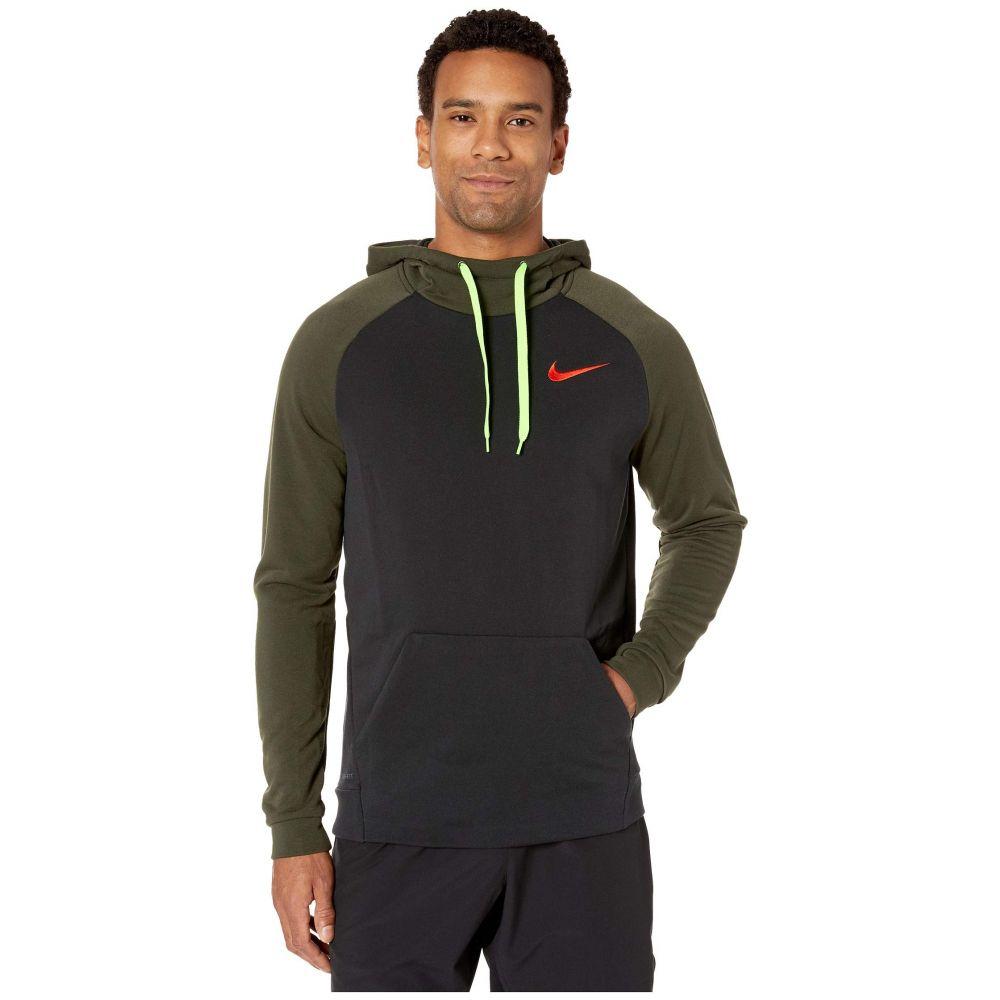 ナイキ Nike メンズ フィットネス・トレーニング パーカー トップス【Dry Training Pullover Hoodie】Black/Sequoia/Habanero Red