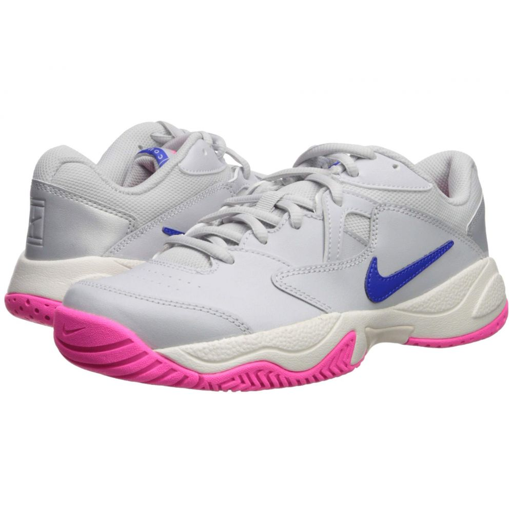 ナイキ Nike レディース テニス シューズ・靴【Court Lite 2】Pure Platinum/Racer Blue/Metallic Platinum