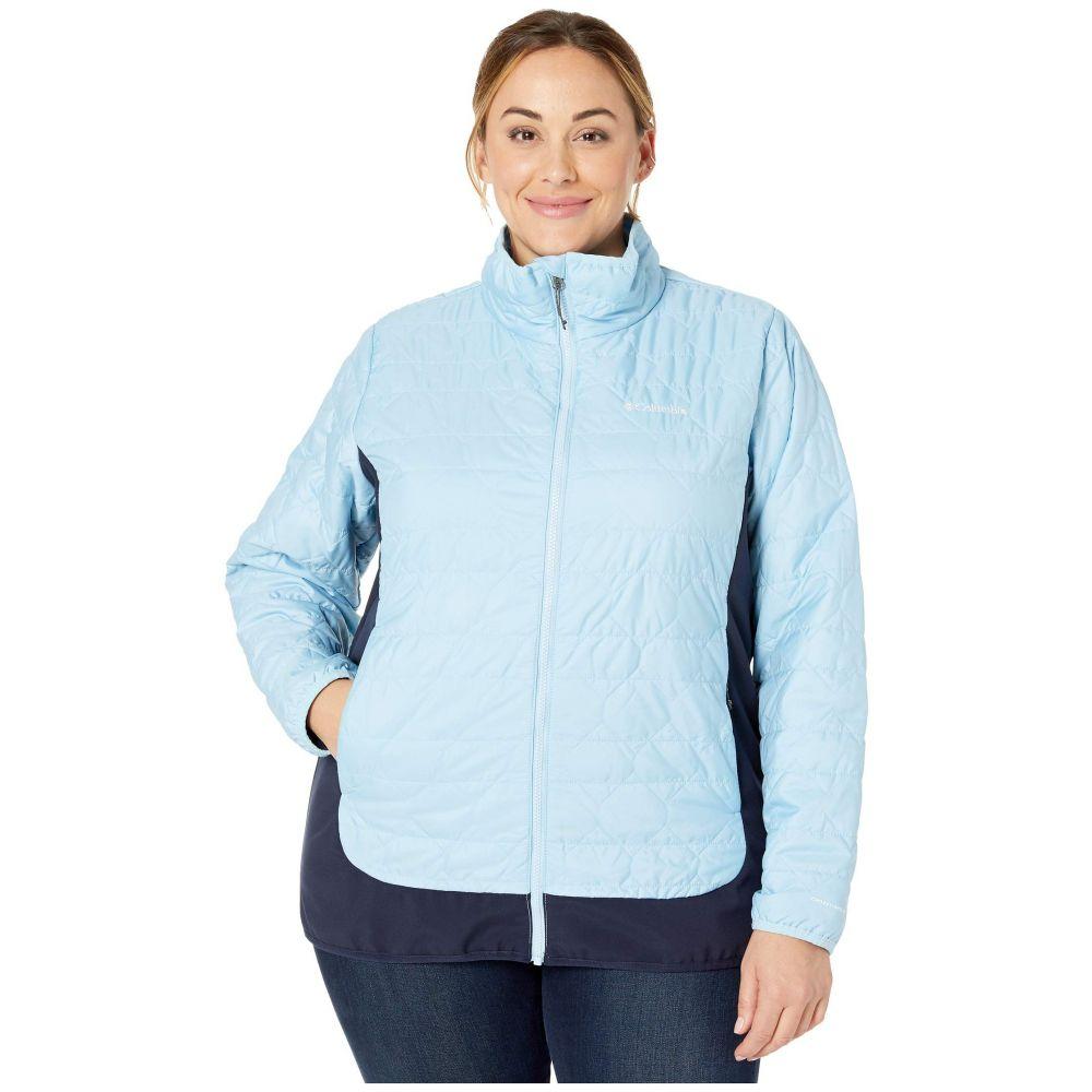 コロンビア Columbia レディース ダウン・中綿ジャケット 大きいサイズ アウター【Plus Size Seneca Basin(TM) Hybrid Jacket】Crystal Blue/Dark Nocturnal