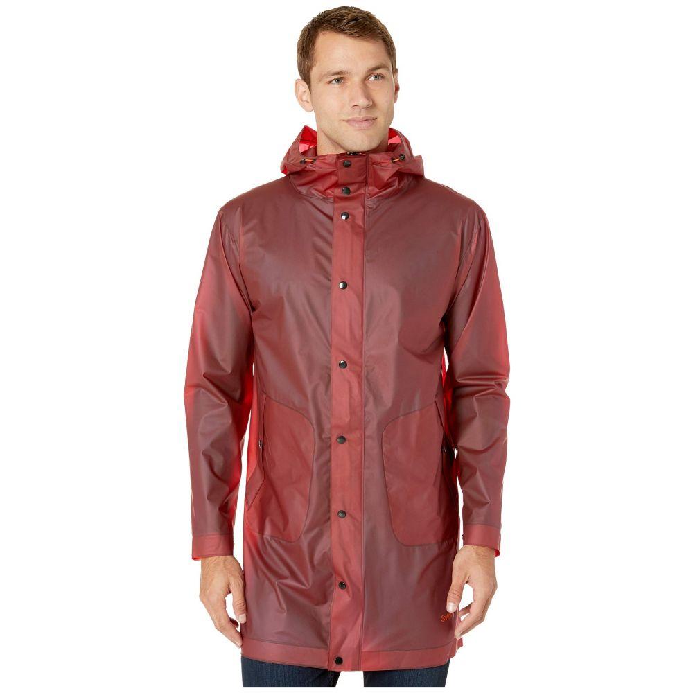 スウィムス メンズ アウター レインコート Red 【サイズ交換無料】 スウィムス SWIMS メンズ レインコート アウター【Basel Raincoat】Red