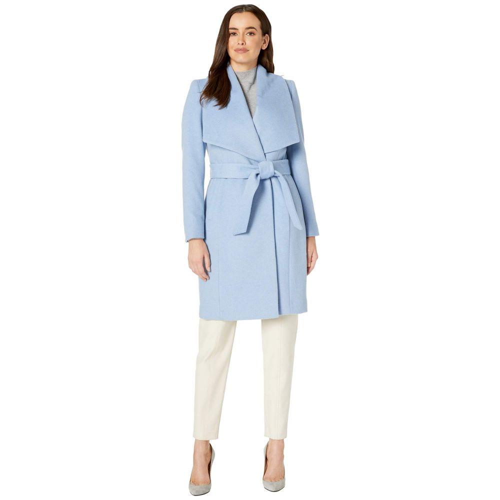 コールハーン Cole Haan レディース コート ラップコート アウター【Slick Wool Wrap Coat w/ Exaggerated Collar】Ice Blue