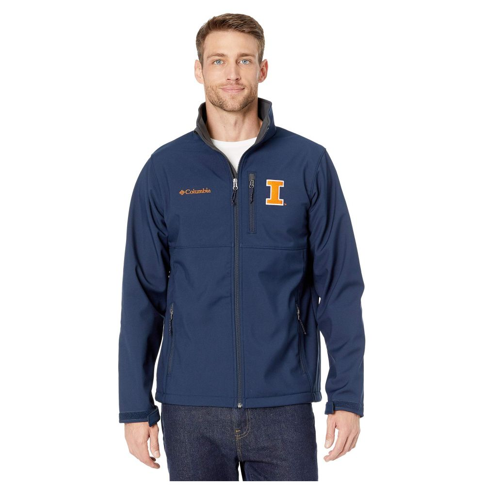 コロンビア Columbia College メンズ ジャケット ソフトシェルジャケット アウター【illinois fighting illini collegiate ascender(tm) softshell jacket】Collegiate Navy