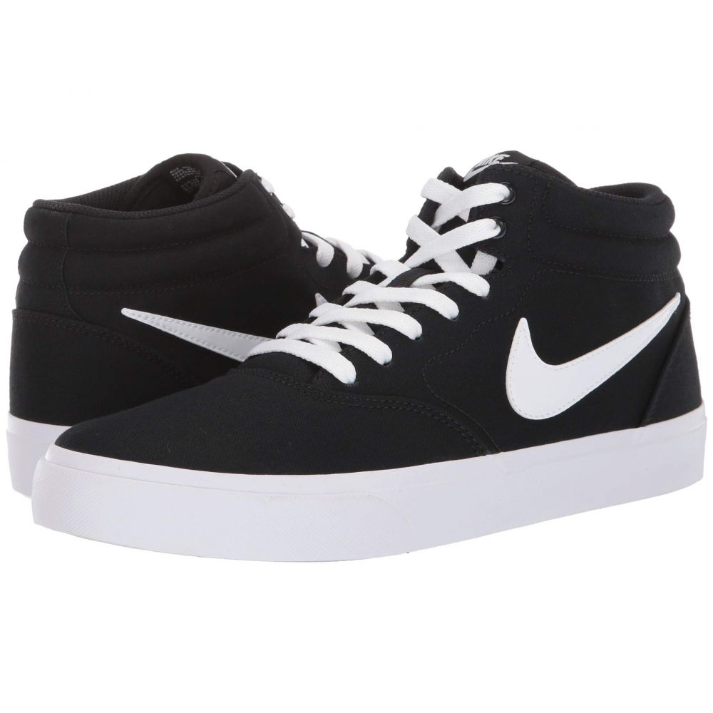 ナイキ Nike SB メンズ スニーカー シューズ・靴【charge solar mid canvas】Black/White/Black/White