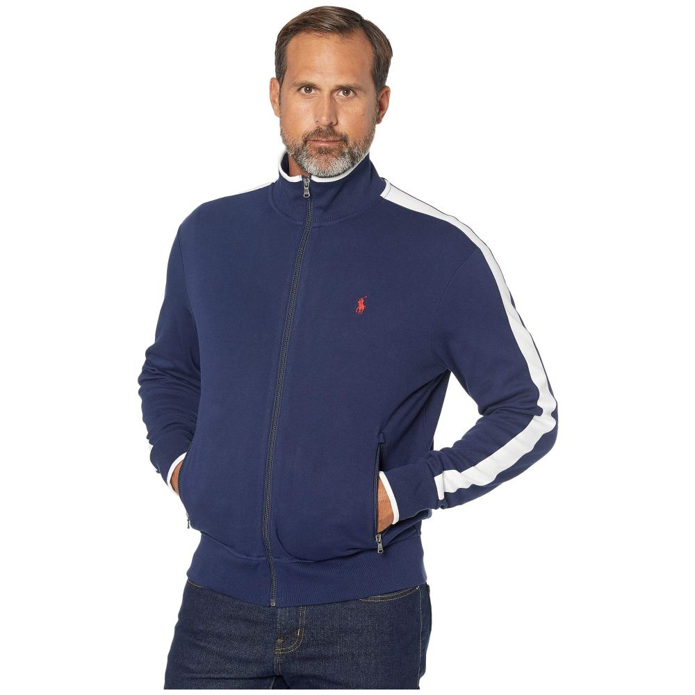 ラルフ ローレン Polo Ralph Lauren メンズ ジャージ アウター【long sleeve interlock track jacket】Navy